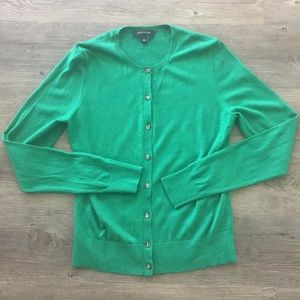 Ann Taylor green cardigan, size small.
